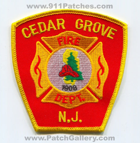 Cedar Grove Fire Department Patch New Jersey NJ