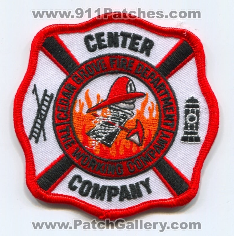 Cedar Grove Fire Department Center Company Patch Unknown State