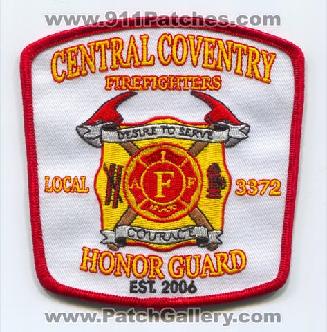 Central Coventry Firefighters Honor Guard IAFF Local 3372 Patch Rhode Island RI