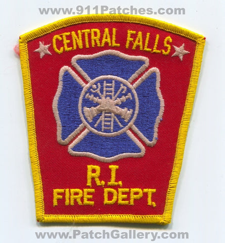 Central Falls Fire Department Patch Rhode Island RI