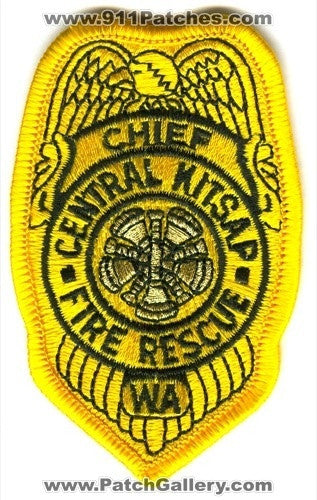 Central Kitsap Fire Rescue Department Chief Patch Washington WA