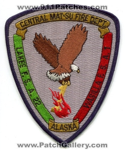 Central Mat-Su Fire Department Patch Alaska AK