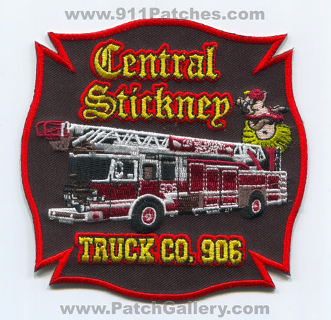 Central Stickney Fire Department Truck Company 906 Patch Illinois IL