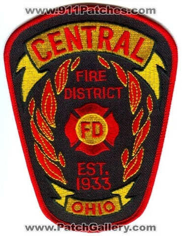 Central Fire District Department Patch Ohio OH
