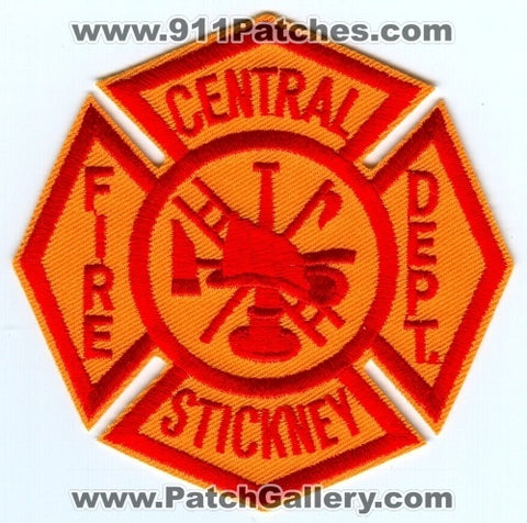 Central Stickney Fire Department Patch Illinois IL