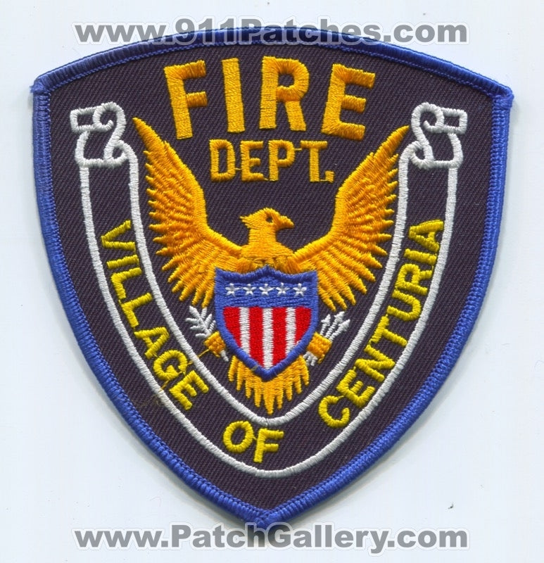Centuria Fire Department Patch Wisconsin WI