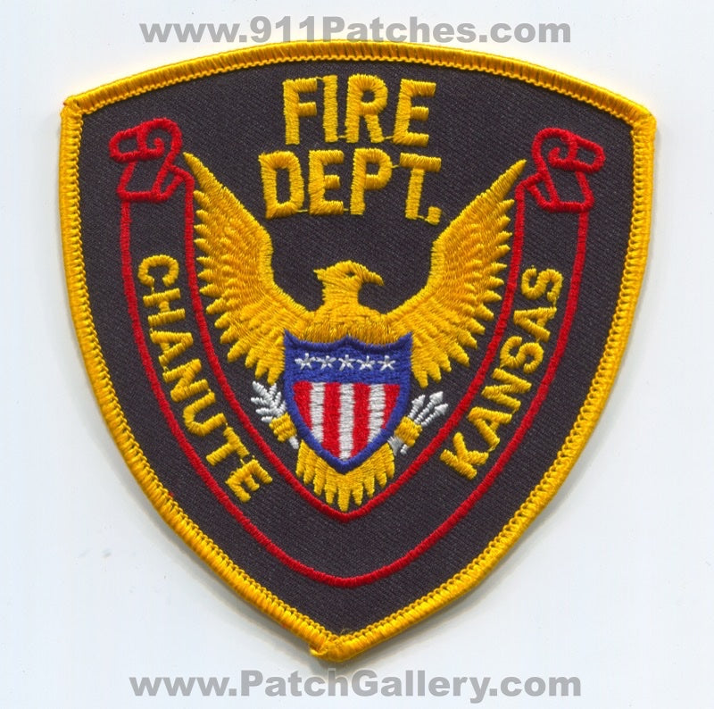 Chanute Fire Department Patch Kansas KS
