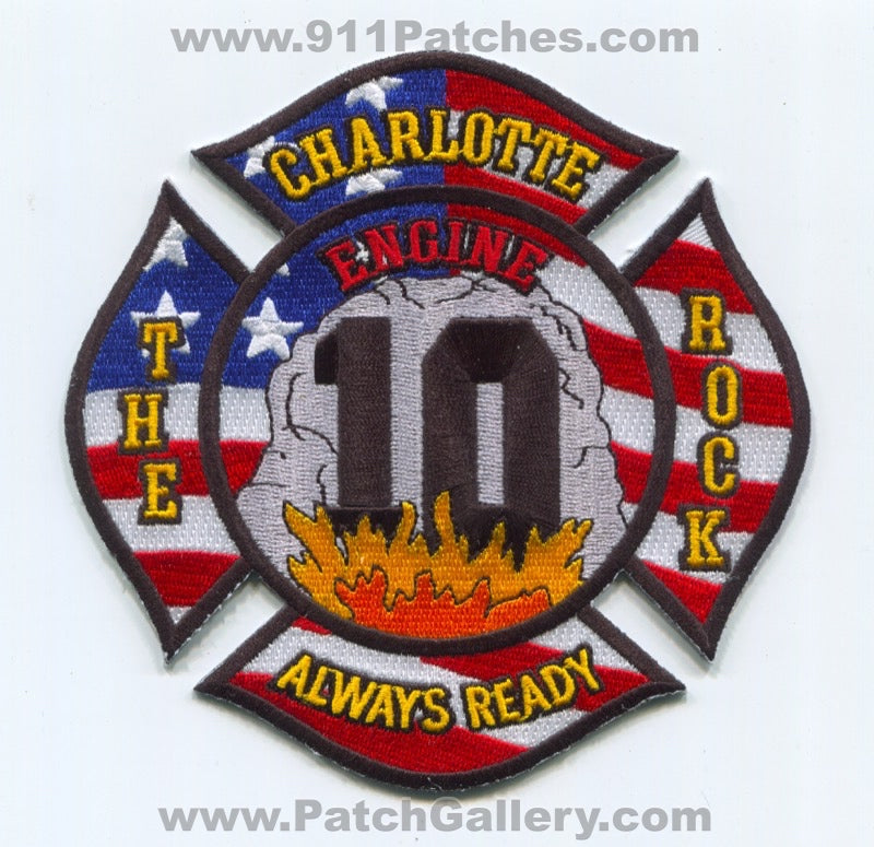 Charlotte Fire Department Engine 10 Patch North Carolina NC