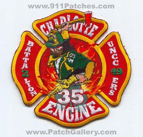 Charlotte Fire Department Engine 35 Battalion 2 Patch North Carolina NC