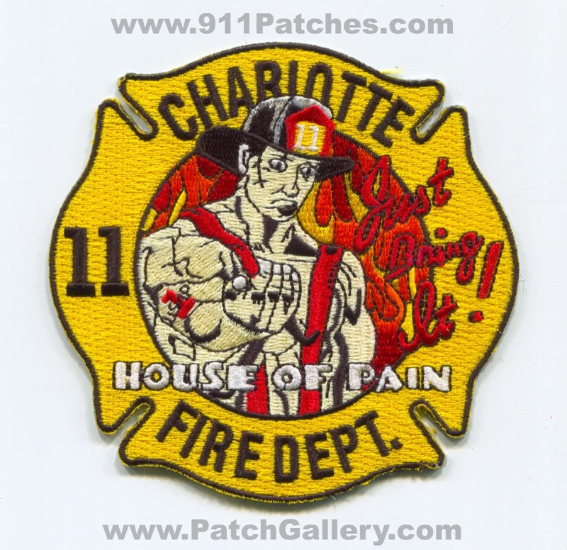 Charlotte Fire Department Station 11 Patch North Carolina NC