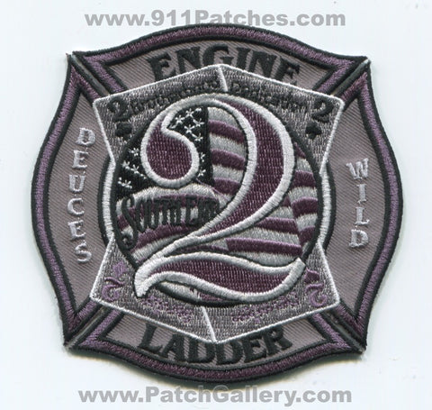 Charlotte Fire Department Station 2 Patch North Carolina NC