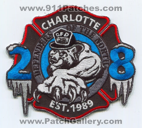 Charlotte Fire Department Station 28 Patch North Carolina NC