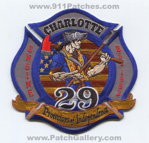 Charlotte Fire Department Station 29 Patch North Carolina NC