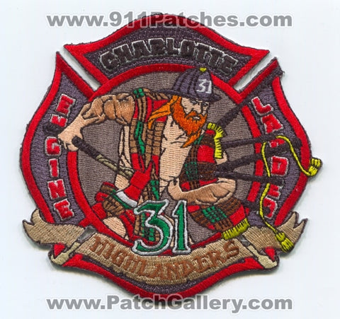 Charlotte Fire Department Station 31 Patch North Carolina NC