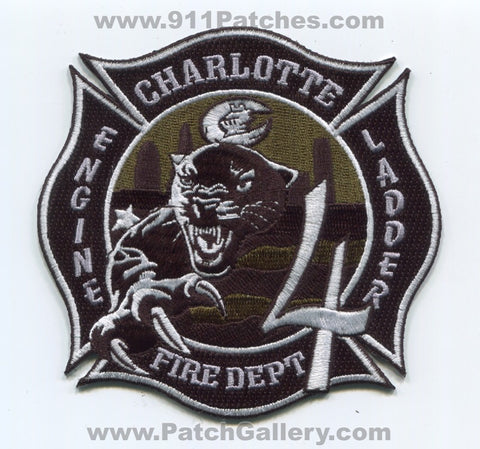 Charlotte Fire Department Station 4 Patch North Carolina NC