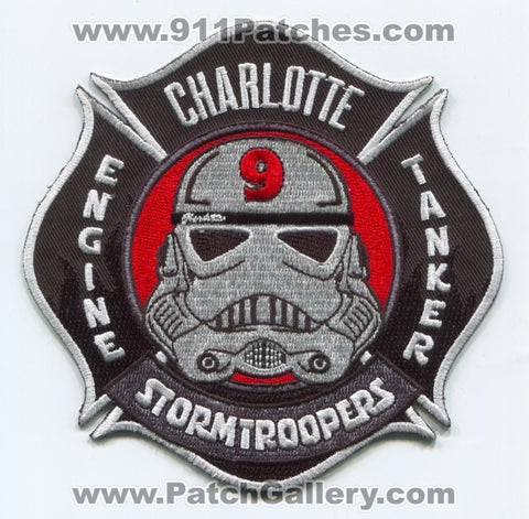 Charlotte Fire Department Station 9 Patch North Carolina NC