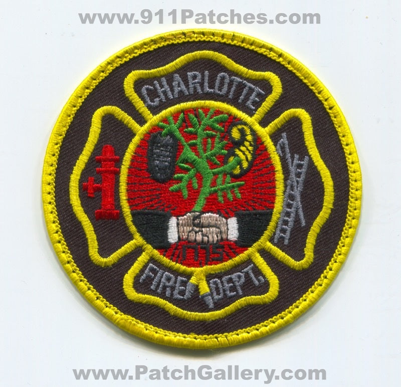 Charlotte Fire Department Patch North Carolina NC