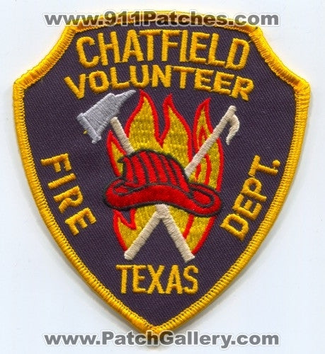 Chatfield Volunteer Fire Department Patch Texas TX