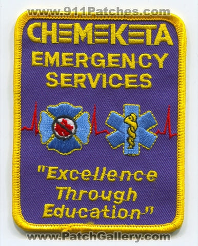 Chemeketa College Emergency Services Fire EMS Patch Oregon OR