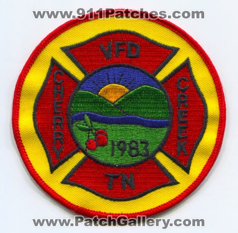 Cherry Creek Volunteer Fire Department Patch Tennessee TN