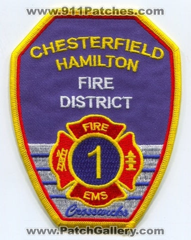Chesterfield Hamilton Fire District 1 Patch New Jersey NJ