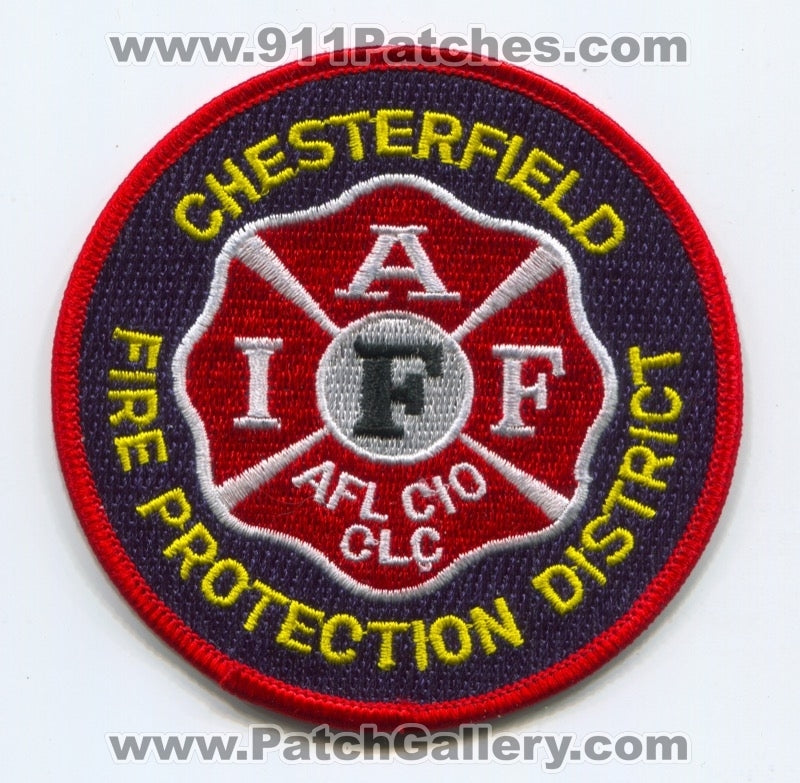 Chesterfield Fire Protection District Iaff Patch Missouri