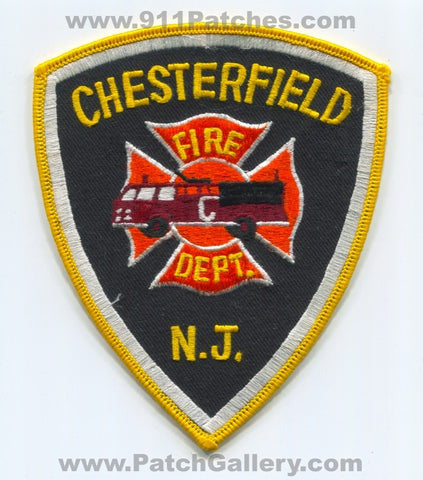 Chesterfield Fire Department Patch New Jersey NJ