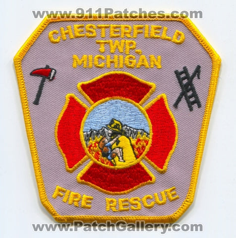 Chesterfield Township Fire Rescue Department Patch Michigan MI