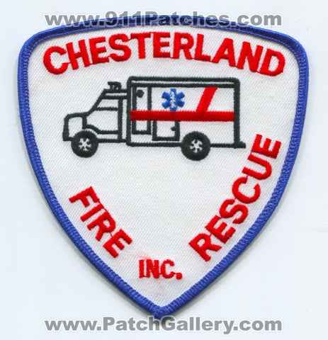 Chesterland Fire Rescue Inc. Ambulance Patch Ohio OH
