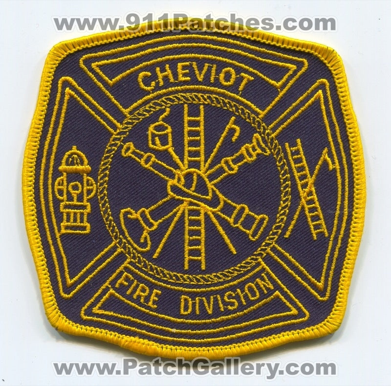 Cheviot Fire Division Patch Ohio OH