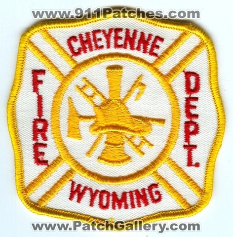 Cheyenne Fire Department Patch Wyoming WY