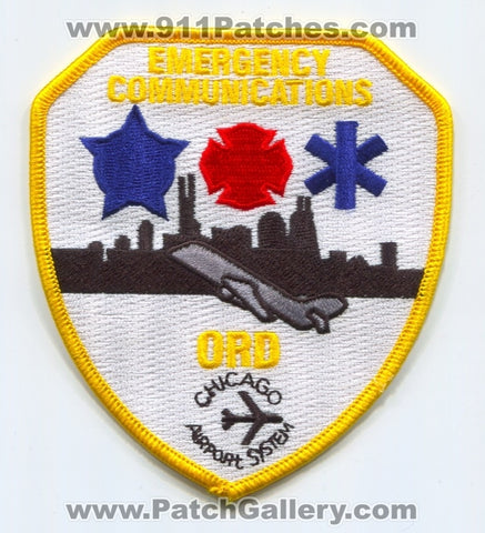 Chicago Airport System Emergency Communications Fire EMS Police Patch Illinois IL