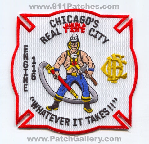 Chicago Fire Department Engine 116 Patch Illinois IL