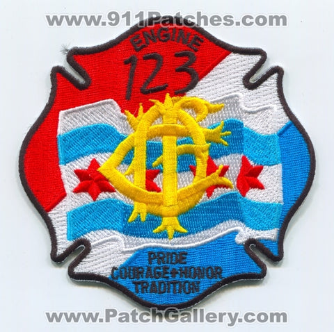 Chicago Fire Department Engine 123 Patch Illinois IL
