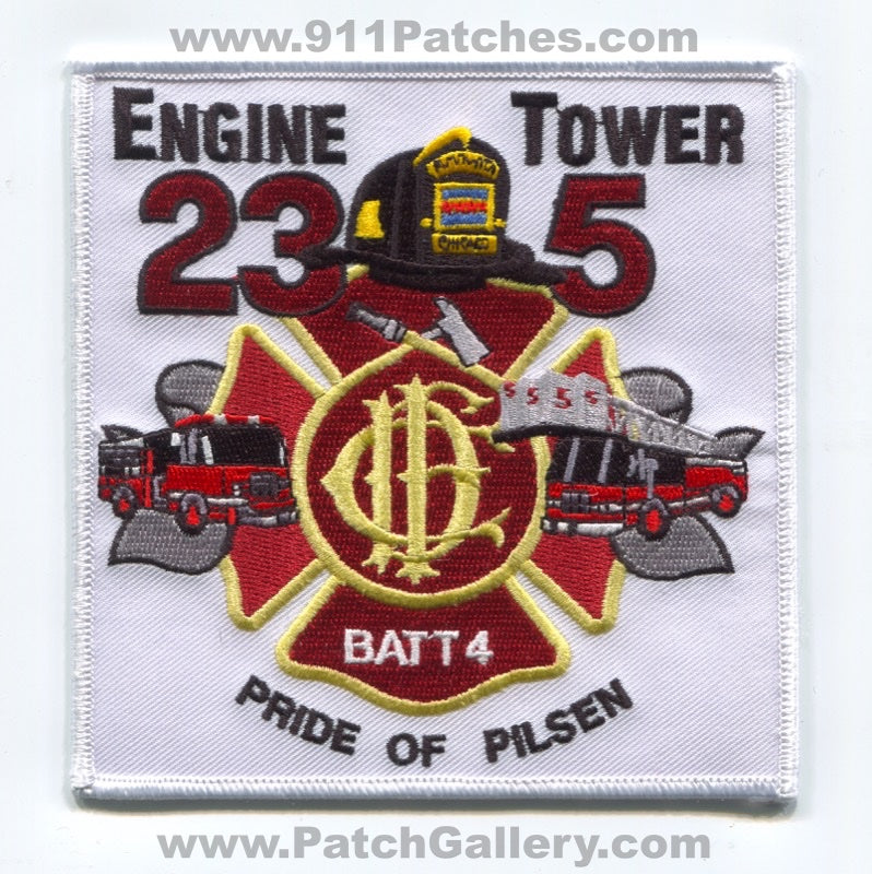 Chicago Fire Department Engine 23 Tower 5 Battalion 4 Patch Illinois IL