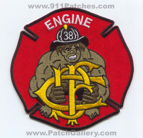 Chicago Fire Department Engine 38 Patch Illinois IL