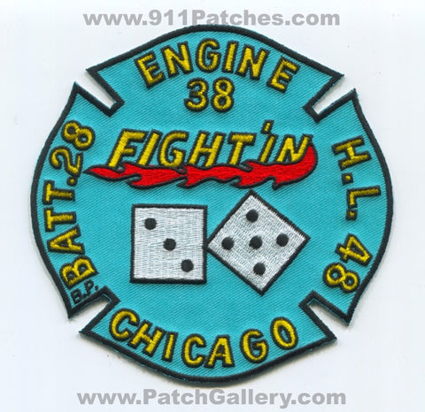 Chicago Fire Department Engine 38 Hook and Ladder 48 Battalion 28 Patch Illinois IL