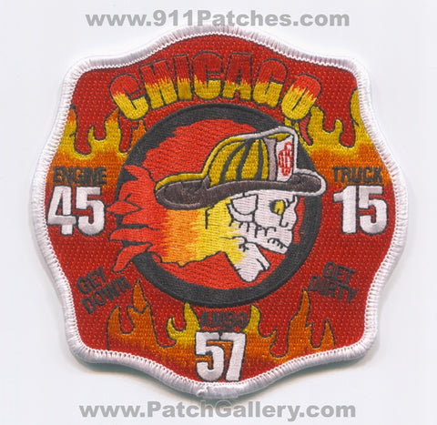Chicago Fire Department Engine 45 Truck 15 Ambulance 57 Patch Illinois IL