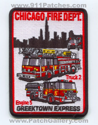 Chicago Fire Department Engine 5 Truck 2 Patch Illinois IL