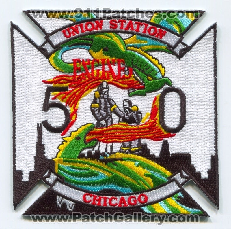 Chicago Fire Department Engine 50 Patch Illinois IL