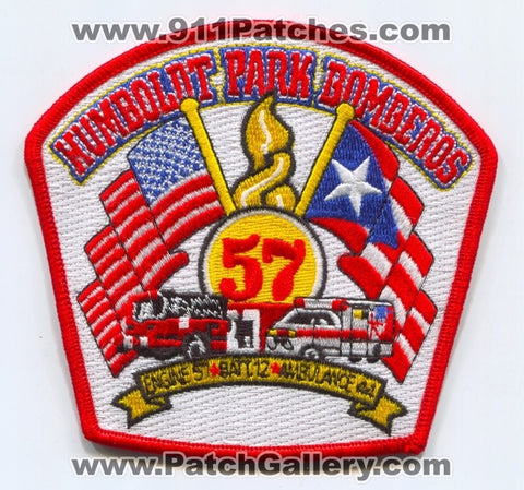 Chicago Fire Department Engine 57 Ambulance 44 Battalion 12 Patch Illinois IL