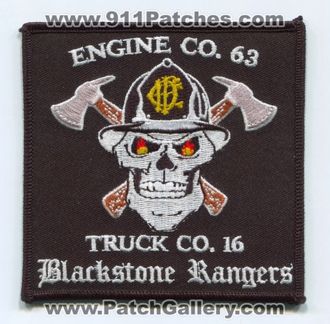 Chicago Fire Department Engine 63 Truck 16 Patch Illinois IL