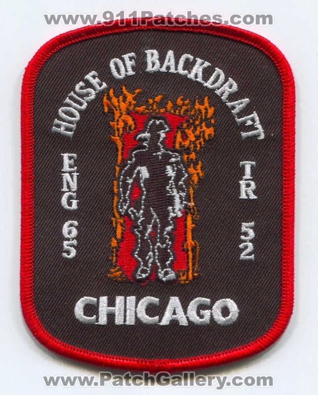 Chicago Fire Department Engine 65 Truck 52 Patch Illinois IL Backdraft Movie