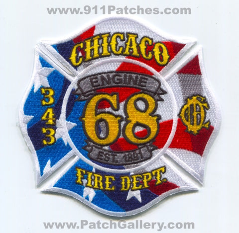 Chicago Fire Department Engine 68 343 Patch Illinois IL