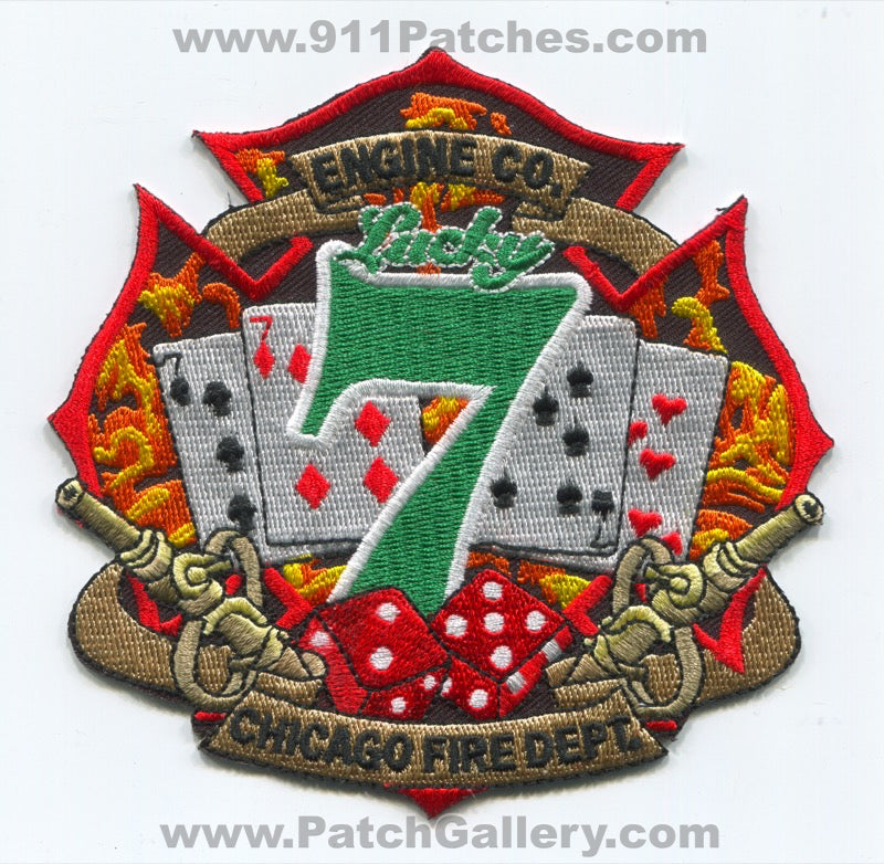 Chicago Fire Department Engine 7 Patch Illinois IL