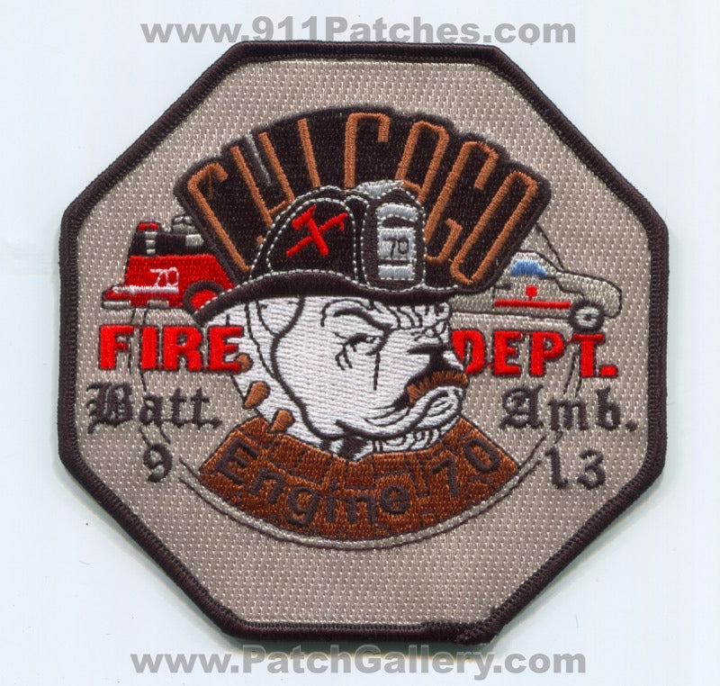 Chicago Fire Department Engine 70 Ambulance 13 Battalion 9 Patch Illinois IL