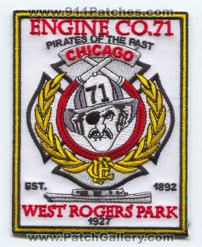 Chicago Fire Department Engine 71 Patch Illinois IL
