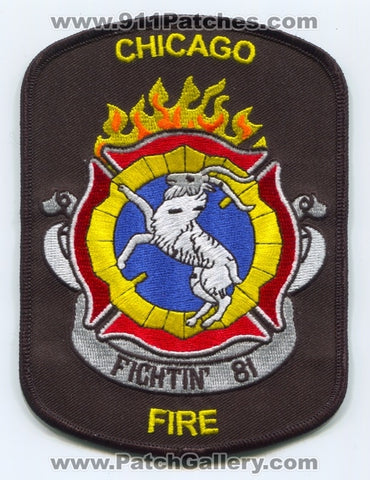 Chicago Fire Department Engine 81 Patch Illinois IL