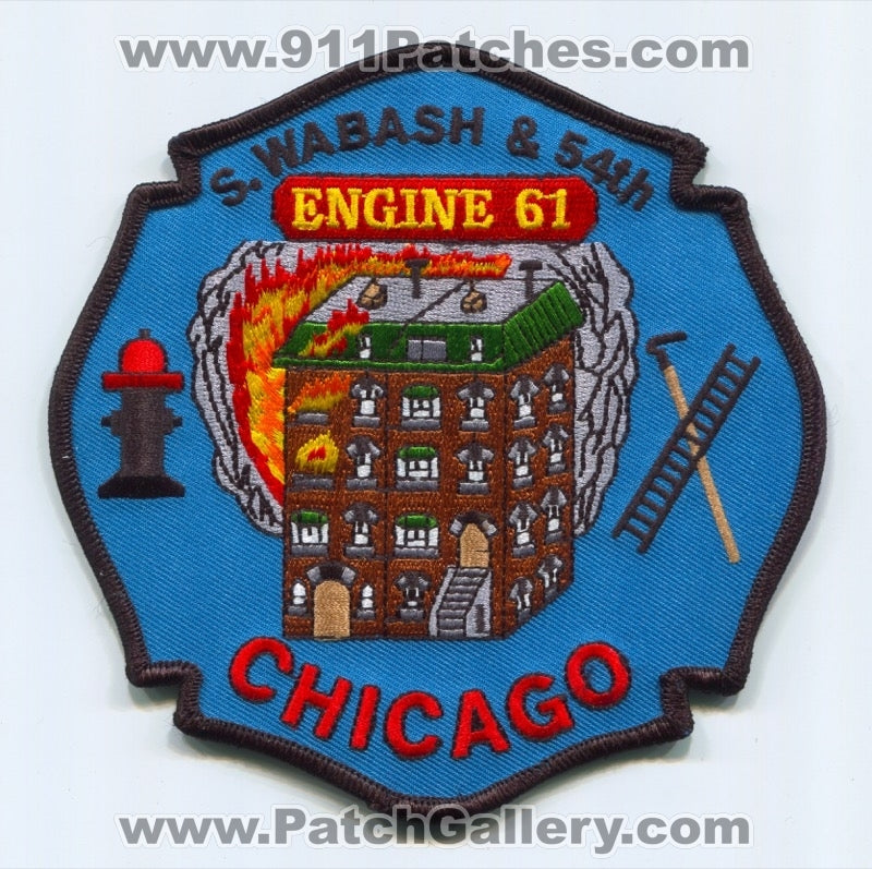 Chicago Fire Department Engine 61 Patch Illinois IL