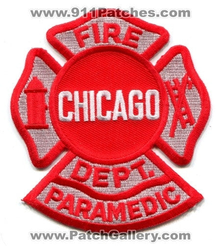 Chicago Fire Department Paramedic EMS Patch Illinois IL